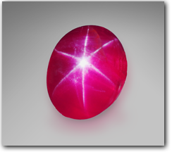 Pala International - A natural Burmese ruby cabochon with a perfect six-rayed star.