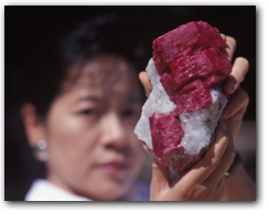 Richard Hughes - a massive ruby crystal on matrix found in Mogok